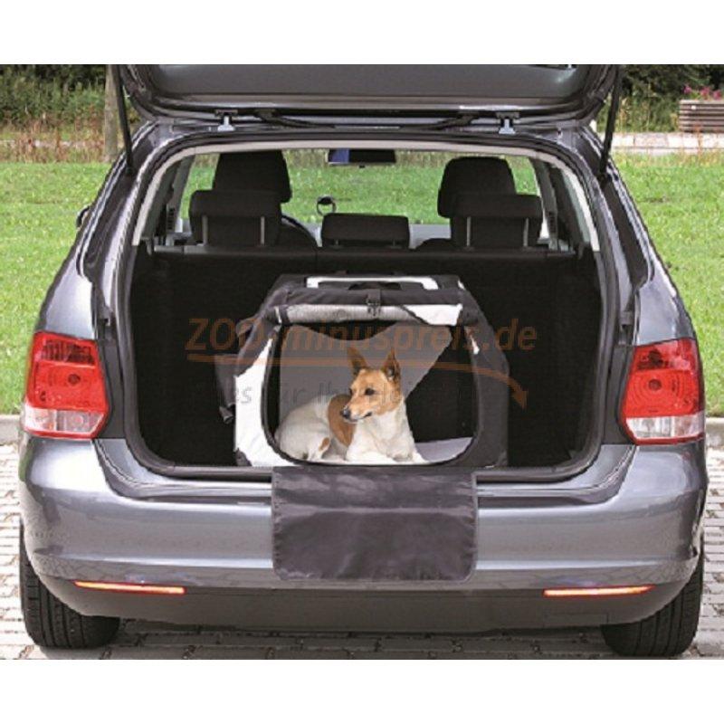 hunde auto transport nylonbox 61x43x46 cm an drei seiten zu ffnen 54 90