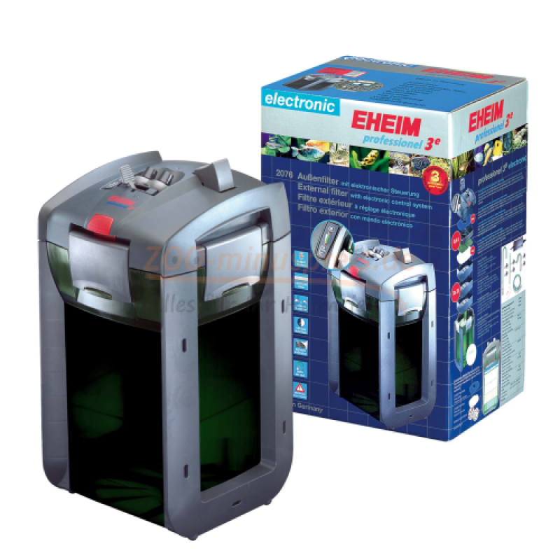 eheim filter 2076 professionel 3e f r aquarien bis 400 liter pumpenmotorleistung 1650 ltr. Black Bedroom Furniture Sets. Home Design Ideas