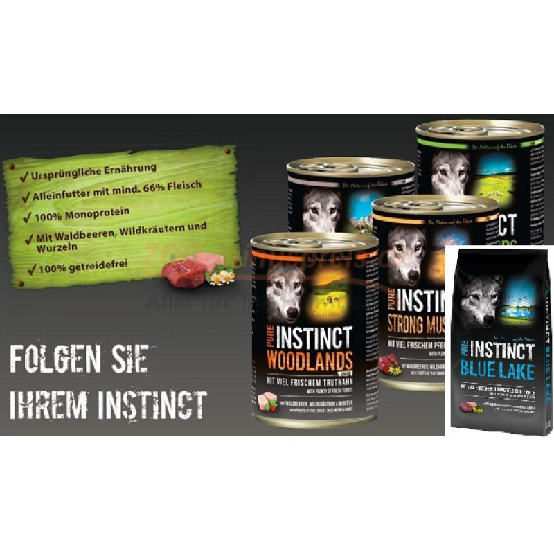 hundefutter pure instinct buffalo land 12 kg naturnahes. Black Bedroom Furniture Sets. Home Design Ideas