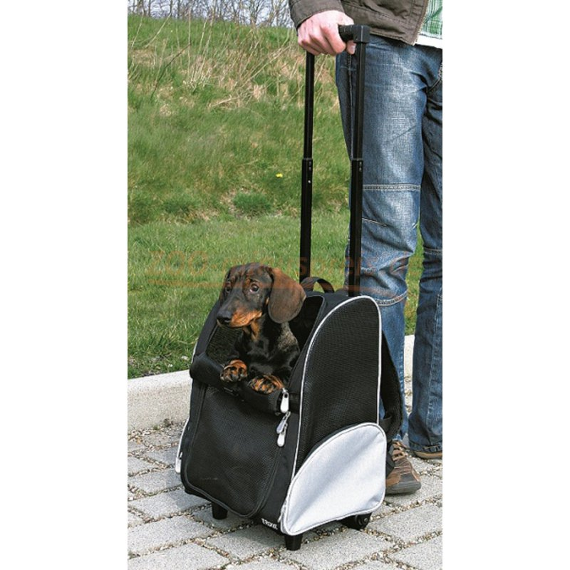 hunde transport trolley f r kleintiere 35 x 50 x 27 cm bis 8 kg tiergewicht festes. Black Bedroom Furniture Sets. Home Design Ideas