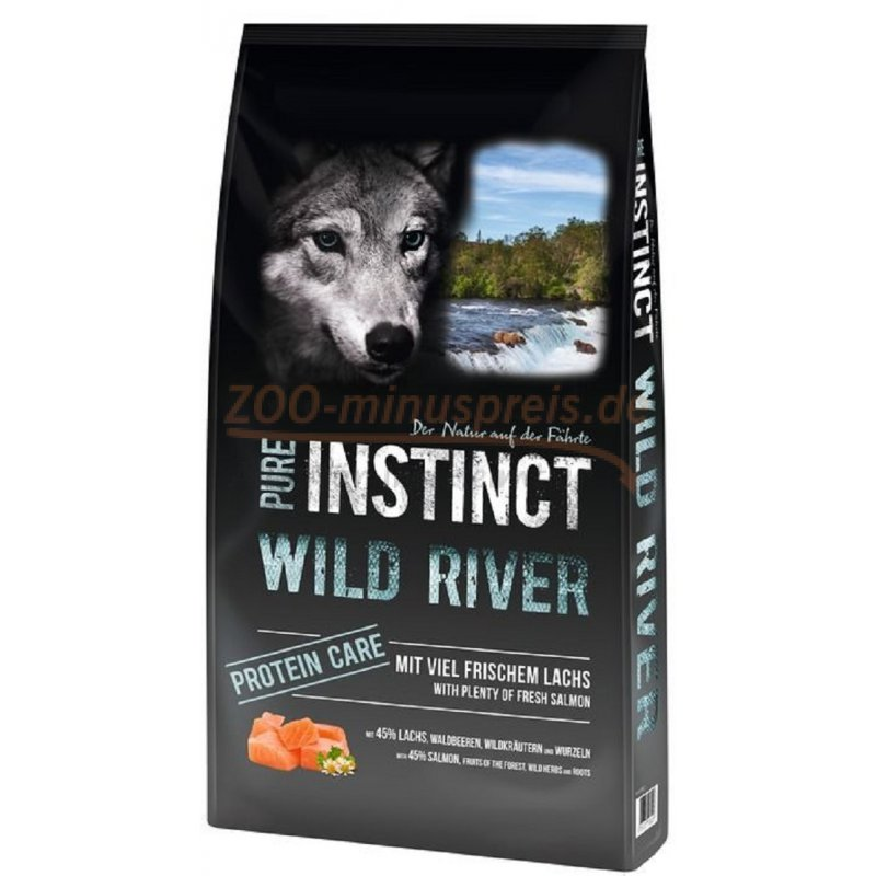 hundefutter pure instinct wild river 12 kg mit viel frischem lachs aus einer proteinquelle. Black Bedroom Furniture Sets. Home Design Ideas