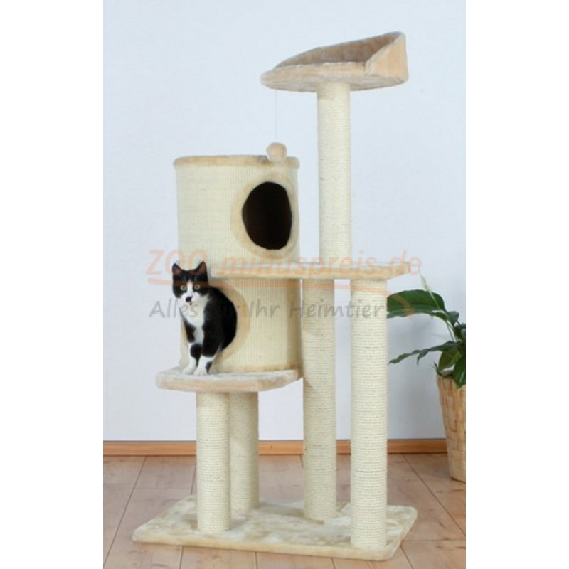 katzen kratzbaum palencia h he 137 cm sisalstamm 8 cm. Black Bedroom Furniture Sets. Home Design Ideas