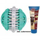 Hundeleckerlie Mintfresh Ball, Naturgummi 7 cm...