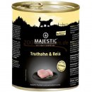 Hundefutter MAJESTIC Truthan und Reis,  ( 6 x 800 g =...